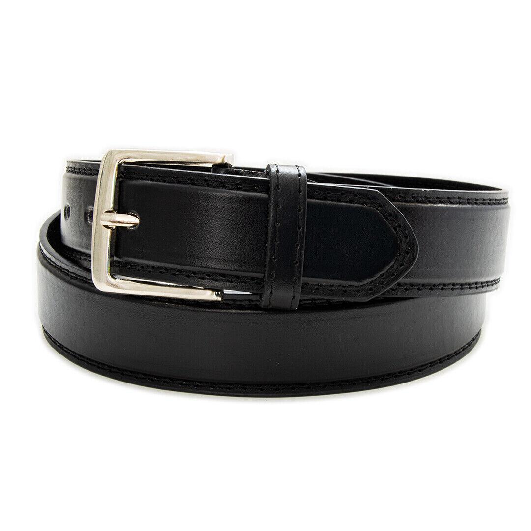 Echt Jeans-Gürtel Herren Damen Gürtel Rund Schnalle Schwarz Belt