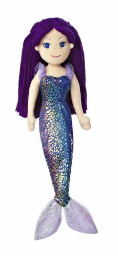 "Aurora World Sea Sparkles Mermaid Marika Doll 17/"" Tall Plush Toy Animal"