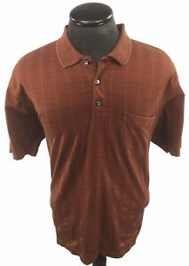 Trump-Golf-Brown-Short-Sleeve-Polo-Shirt-Size-Large-Cotton