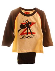 Pyjama SET Schlafanzug Hose Shirt Zorro 86 92 98 104 110 116 Kinder