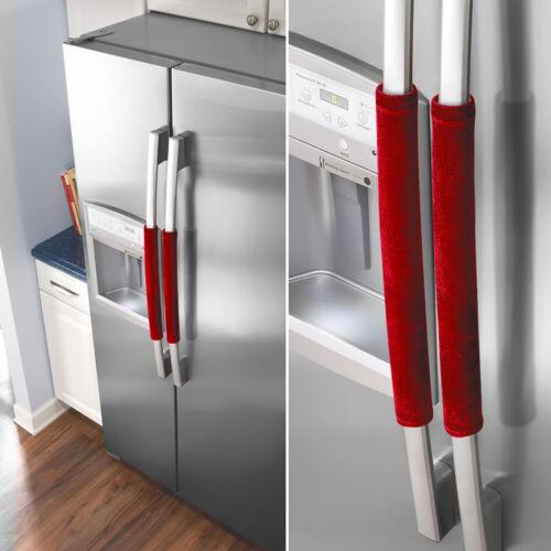 1 Pair Gold Velvet Refrigerator Door Protector Handle Cover Cap For Home Oven