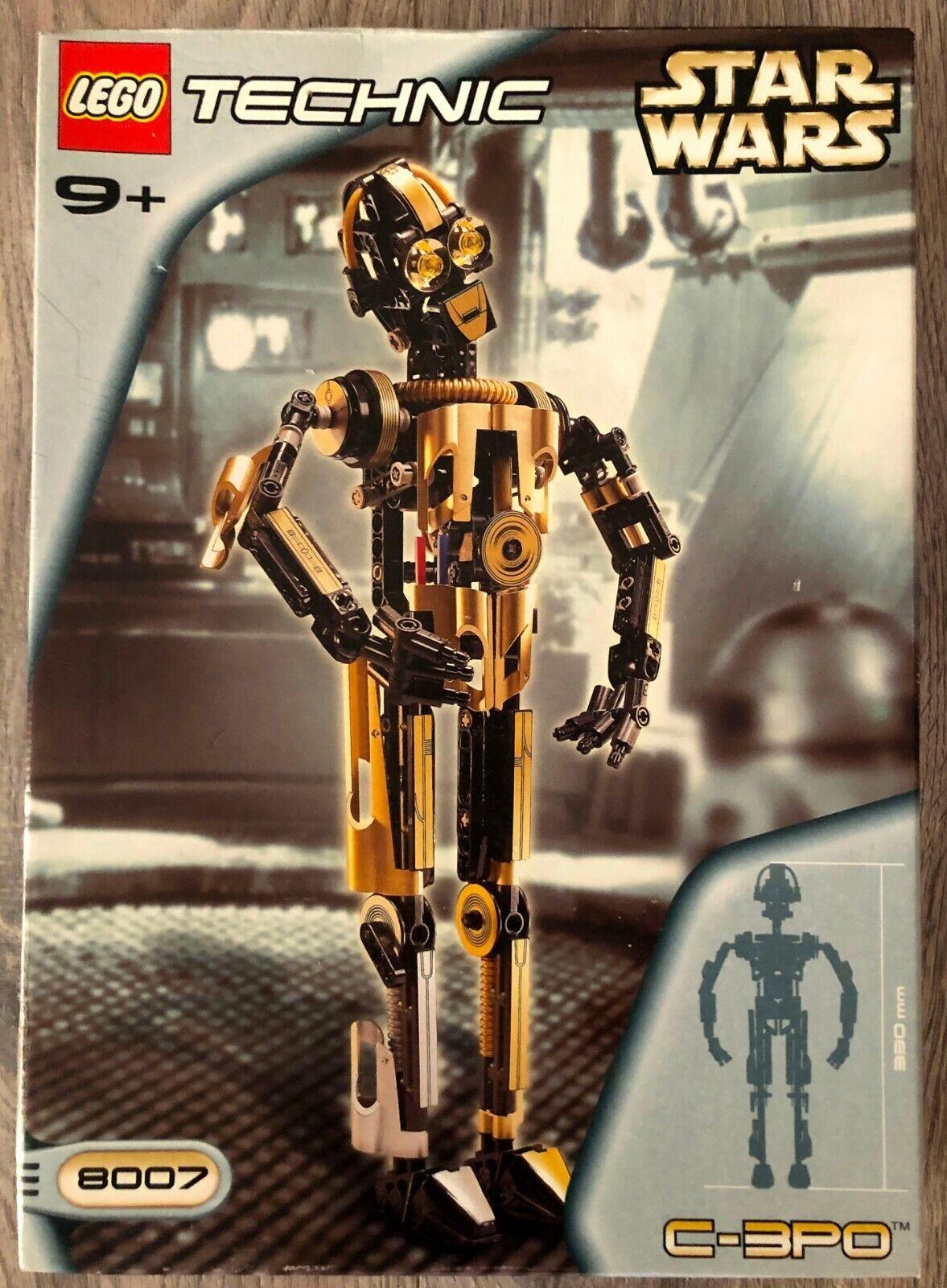 LEGO TECHNIC star wars 8007 C-3PO. Neuf, scellé. Rare. certains shelfwear. voir photos