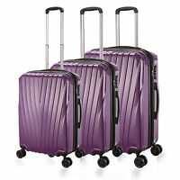 Purple 20/24/28 Luggage 4 Wheel Spinner Suitcase Pc Trolley Case Travel Bags