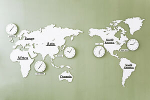 Big large world map wall clock wooden diy sticker puzzle home lpm image is loading big large world map wall clock wooden diy gumiabroncs Images