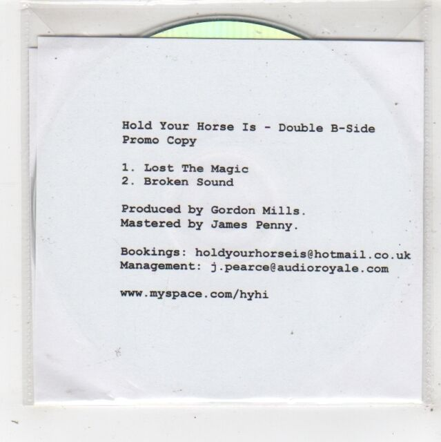(FW685) Hold Your Horse Is, Lost The Magic - DJ CD