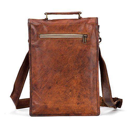 New Men/'s Vintage Brown Genuine Leather Messenger Laptop Satchel Shoulder Bag