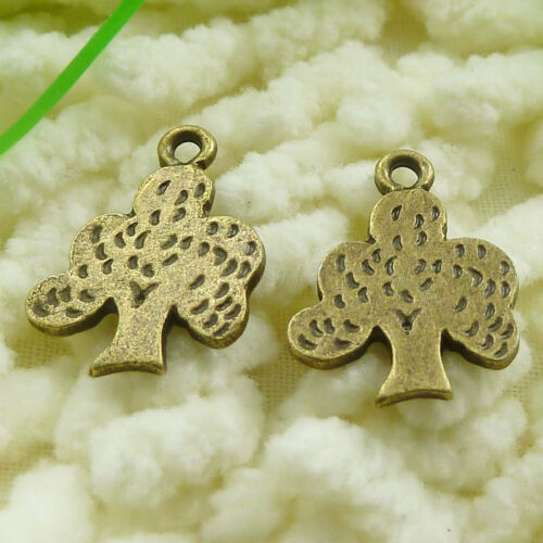 Free Ship 100 pieces antique bronze tree Charms 20x14mm #663