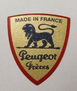 Peugeot Freres Logo Kaffeemühle Restaurieren Gold Blau 32x28 mm