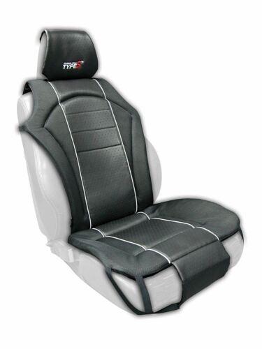 Premium Black Cushion Padded Seat Cover Type S Universal Black