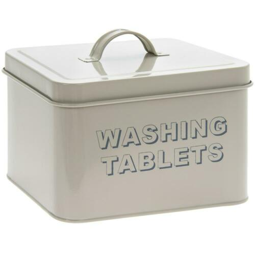 WASHING UP TABLETS STORAGE TIN CONTAINER IN SAGE GREEN