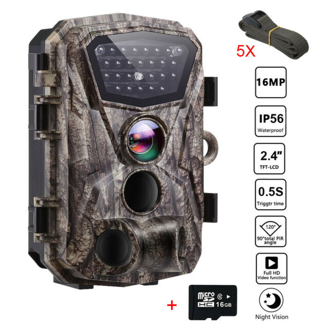 18MP 1080P 16GB Trail Camera Wireless Home Security Night Vision Hunting Cam