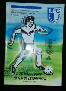 Programmheft 10993 Dfb Pokal 1fc Magdeburg Bayer 04 Leverkusen