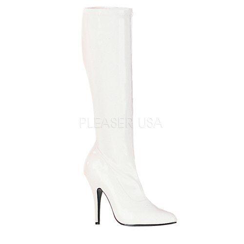 Pleaser seduce - 2000 clásico clásico clásico rodilla botas de tejido elástico botas Pleaser  venderse como panqueques
