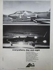 9/1974 PUB AERMACCHI AVION MB 326 TRAINER AIRCRAFT FARNBOROUGH ORIGINAL AD