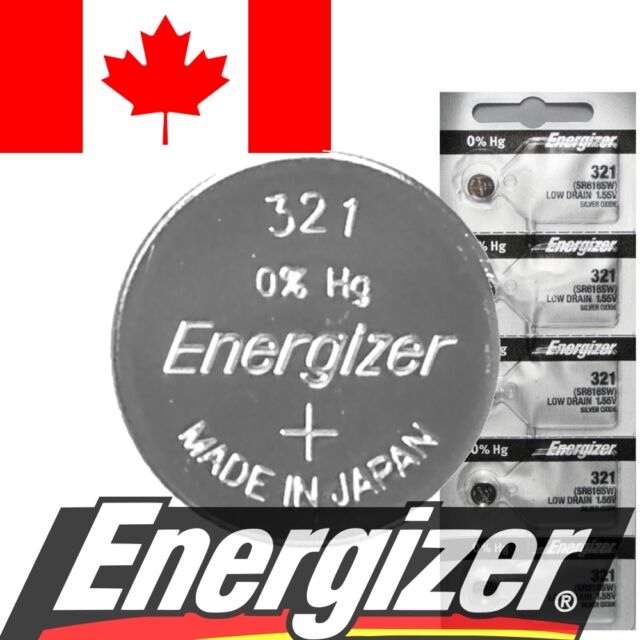 1 PC Genuine Energizer 321 Battery SR616SW D321 V321 SR65 280-73 Watch Batteries