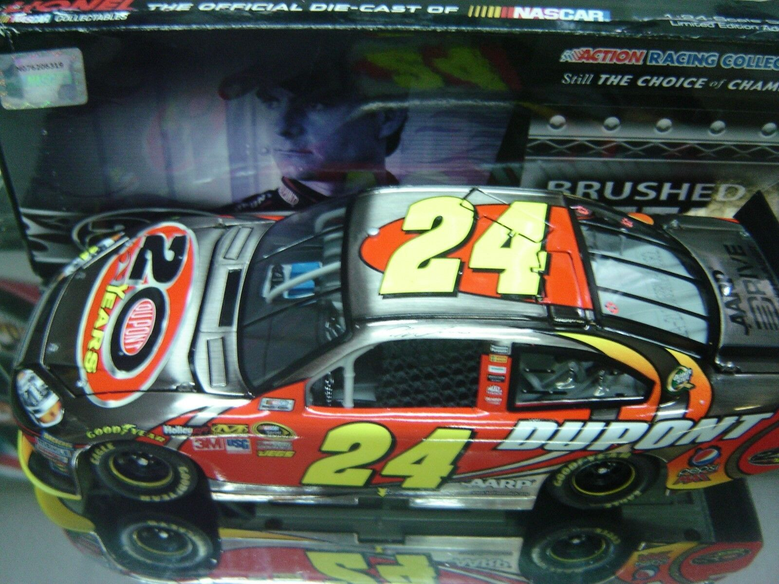 RARE  2012 JEFF GORDON DUPONT 20 YEARS CELEBRATORY BRUSHED METAL BOX TOUGH 82 84