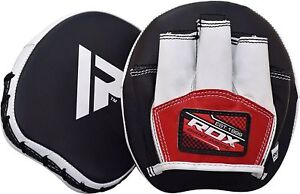 RDX-Smartie-Leather-Focus-Pads-Hook-and-Jab-Boxing-Muay-Thai-Curved-Mitts-MMA-T1