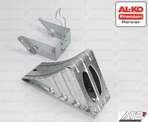 1 Satz ALKO Unterlegkeil mit Halter, Hemmschuh Stahl UK53 6500kg