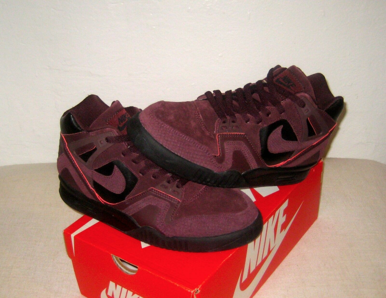 Nike Air Tech Challenge II 2 Promo Tag Waterproof Deep Burgundy Lava Size 9 New