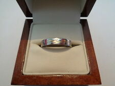 palladium & 18ct gold band ring size R