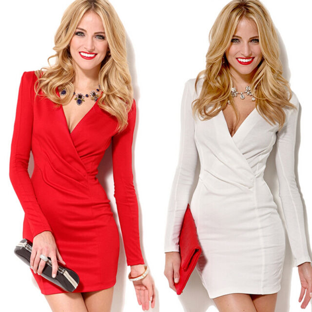 New Sexy Women Bodycon Slim Cocktail Party Evening Clubwear Bandage Pencil Dress