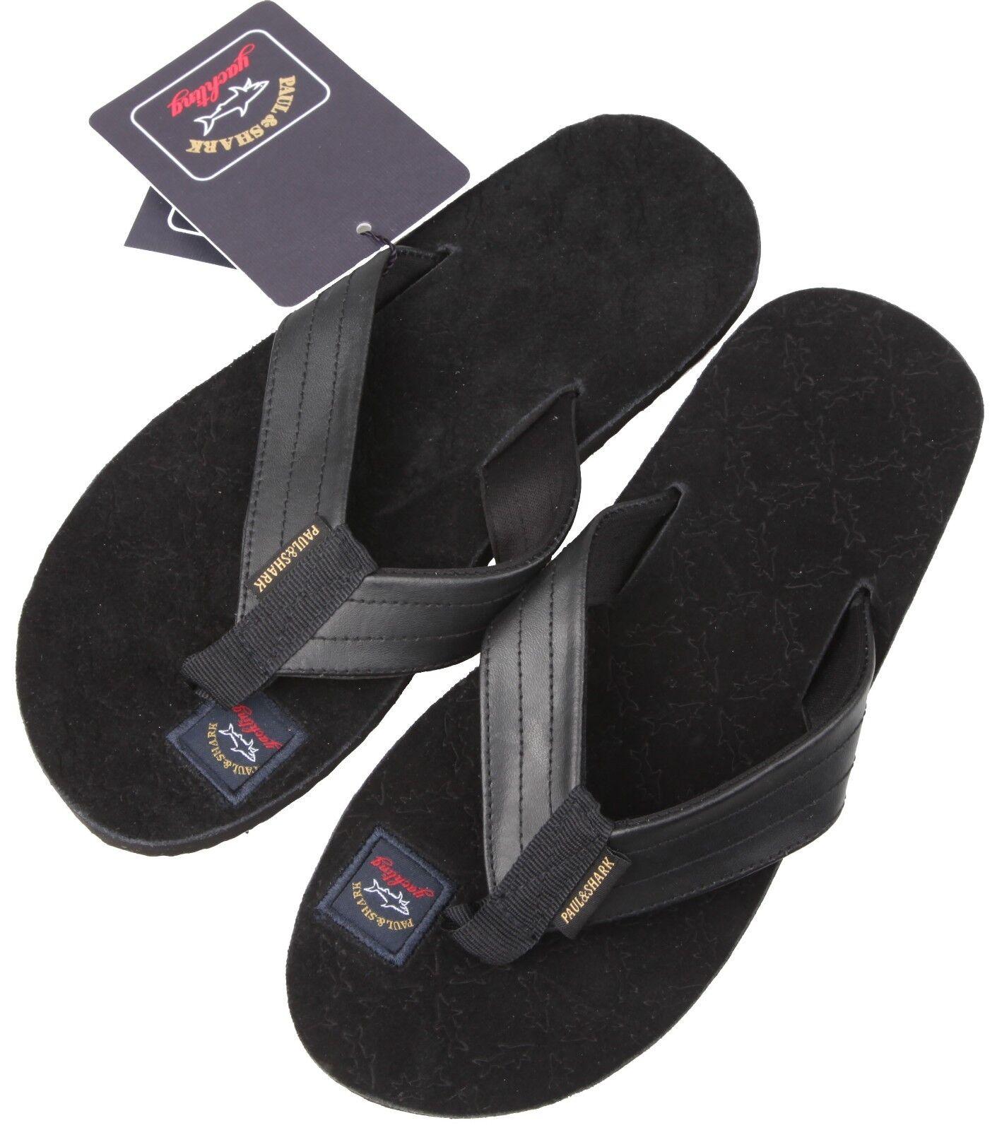 PAUL  SHARK YACHTING Leder Leder Leder Sandalen Schuhe Leder Schuhes Sandales 44 UK 10 US 11 a130b9
