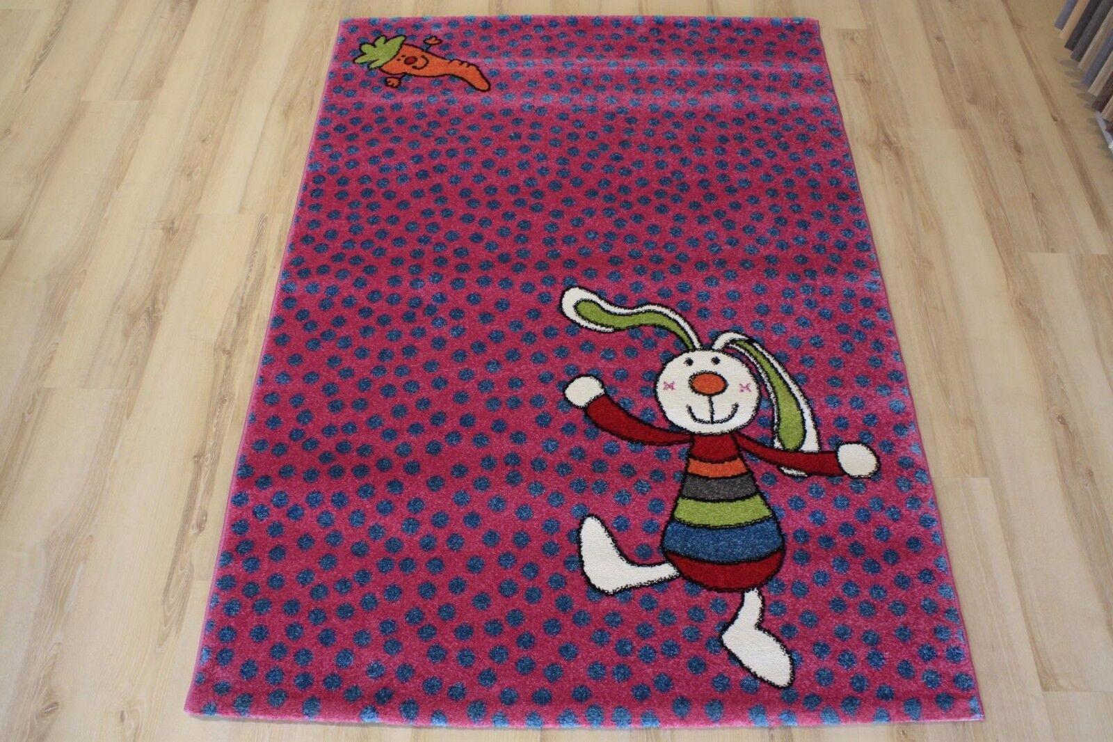 Enfants tapis jeu tapis sigikid sk-0523-03 rainbow rabbit 200x290 cm rose