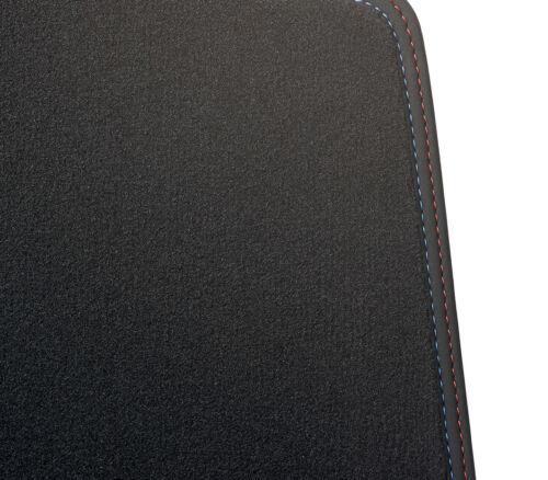 Passend für BMW X2 F39 Fußmatten Velour Deluxe anthrazit Nubukband Naht M-Optik