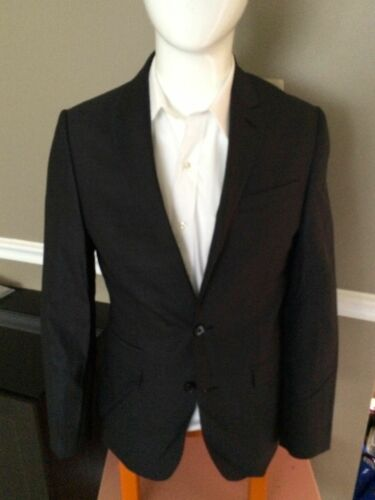 EXPRESS $328 GRAY WOOL PHOTOGRAPHER FITTED SUIT BLAZER JACKET 36R,42L 40S