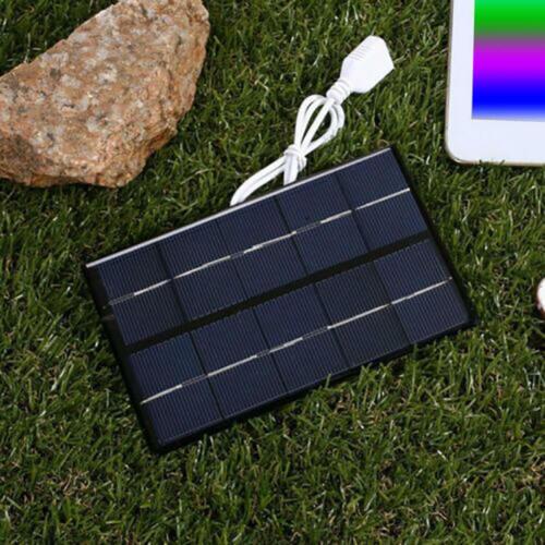 5V 5W Portable USB Solar Panel Power Bank Tablet Phone Charger Camping Hiking cv