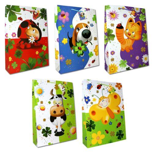 10 Geschenktüten Kinder XXL 45,5x33x10,5cm Geschenktaschen Tragetasche 99-7070