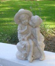 Concrete mold Boy And Girl First Kiss. Latex Rubber / Fiberglass