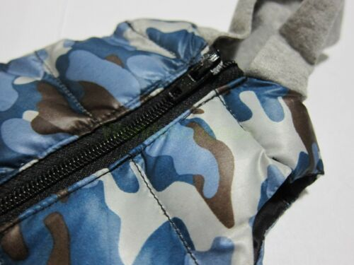 "1//6 Scale Hot Camo Blue Down Vest for 12/"" Action Figure Toys"