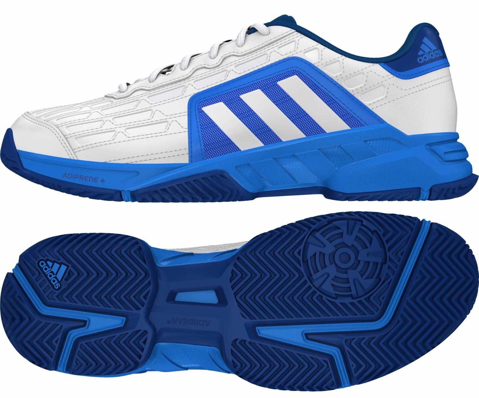 Adidas Barricade Court  Mens Trainers White bluee