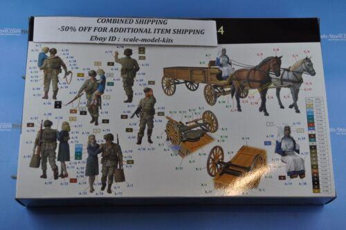 FRANCE 1944 US PARATROOPERS /& CIVILIANS WWII 1//35 MASTER BOX 3578 DE