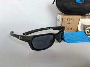 b829d9d4e85 New Costa del Mar Trevally Polarized Sunglasses Black Gunmetal Gray ...