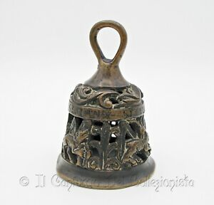 Antica campana religiosa bizantina in bronzo XVI secolo Evangelisti Arte sacra