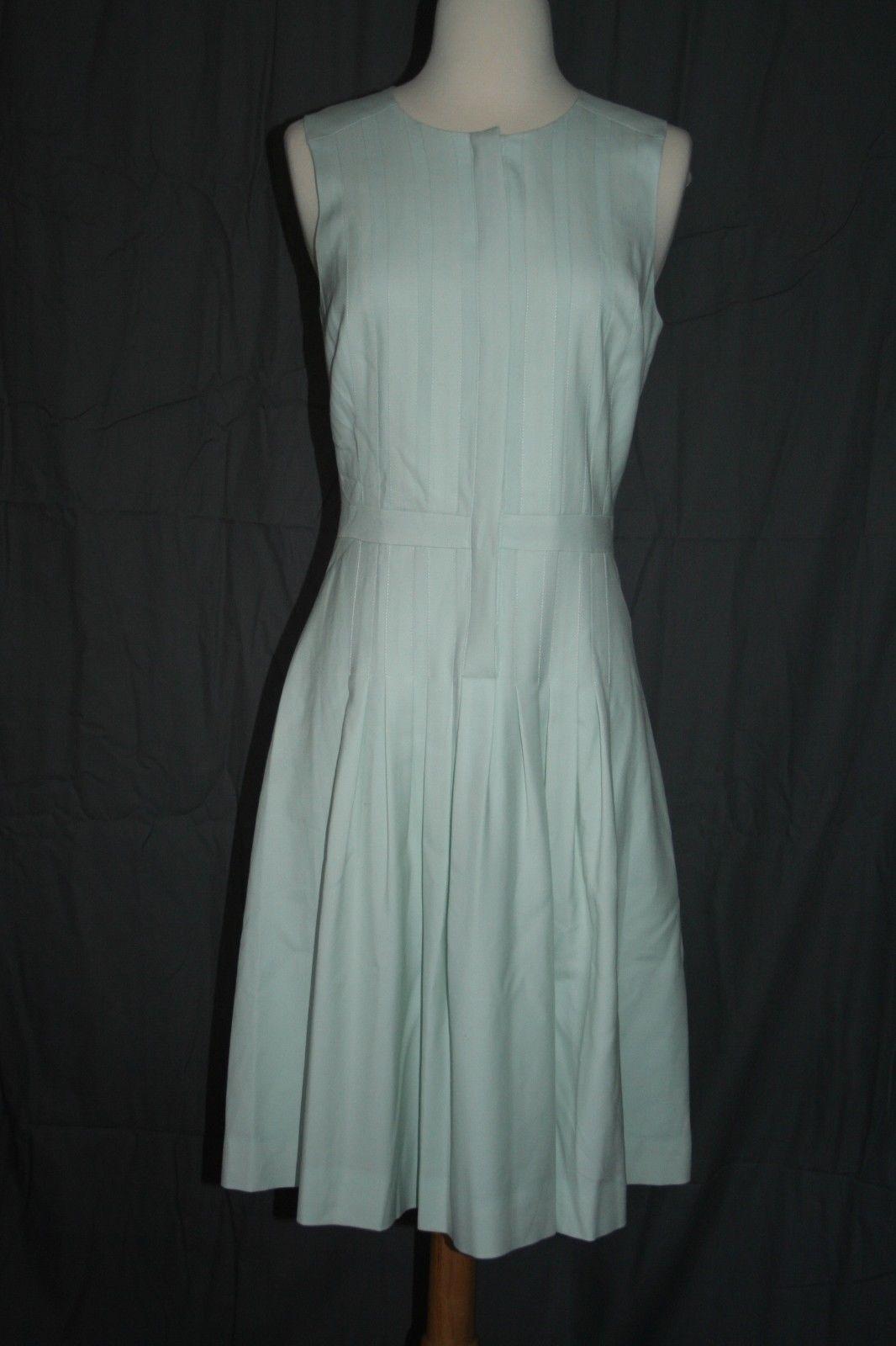 J.CREW TALL PLEATED A-LINE DRESS DRESS DRESS IN SUPER 120S WOOL SIZE T0 RUSTIC MINT 411848