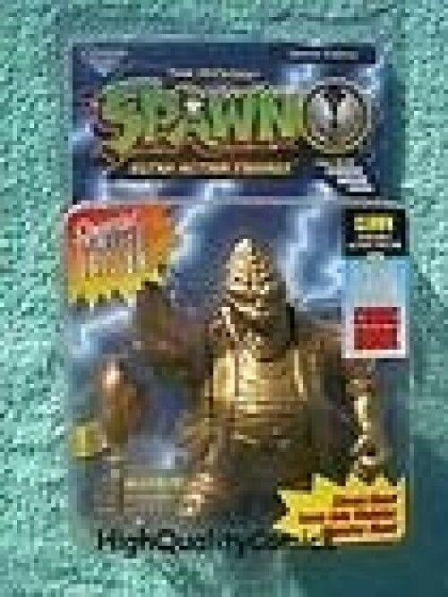 Todd mcfarlanes spawn ultra action figure gold special edition w clown comic