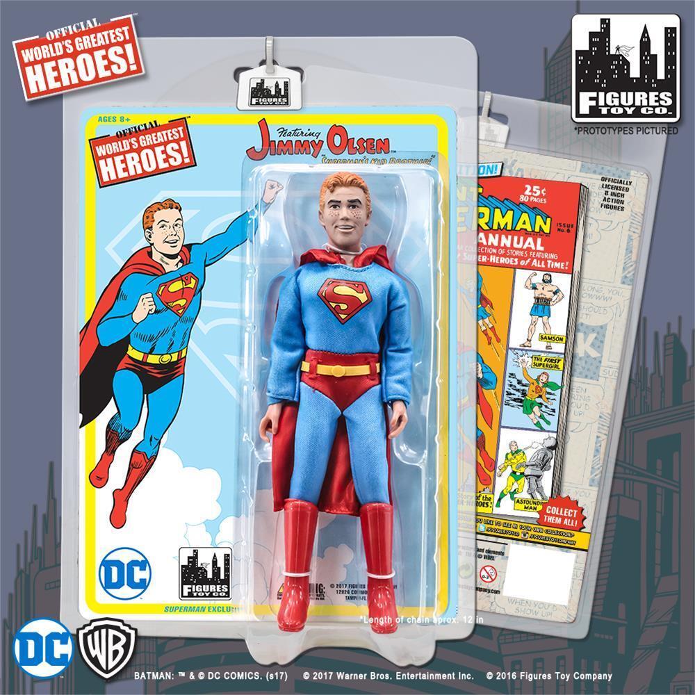 Dc comics retro - 8 - zoll - action - figur  jimmy olsen variante im superman - outfit