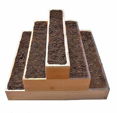 Cedar Raised  3 Tier Planter Bed  FREE Shipping New
