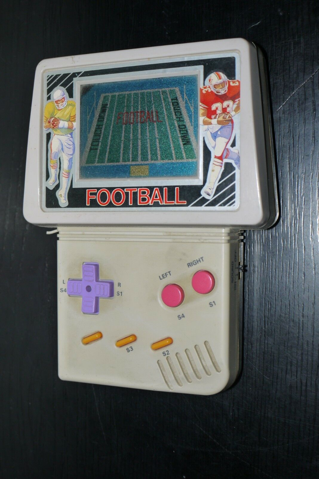 VINTAGE UNKNOWN football electronic LCD handheld game WORKING