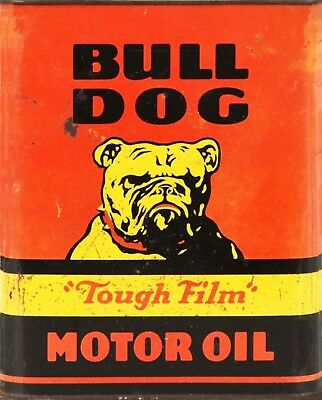TIN SIGN Bull Dog Motor Oil Gas Garage Rustic Metal Décor B959