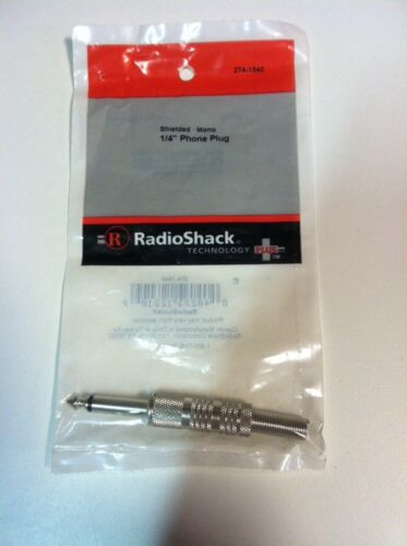 "Radioshack Shielded 1//4/"" Phone Plug Mono #274-1545 New"