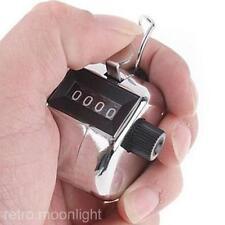Tragbar 4 stellig Zahl anzeigen Clicker Metallbügel Golf Hand Tally Zähler Neu
