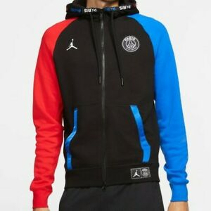 Paris Saint-Germain Black Cat Nike Jordan Trikot Jacke PSG Hoodie Gr. XXL