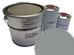 3 Liter Set 2K Floor Color Floor Ral 7042 Vinyl-Epoxid-Lack Lackpoint Shine