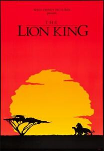 The Lion King Movie Poster International 1994 Rare Hollywood Posters Ebay