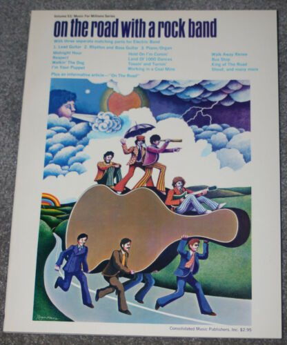 On The Road With a Rock Band 60s psych garage sheet music songbook