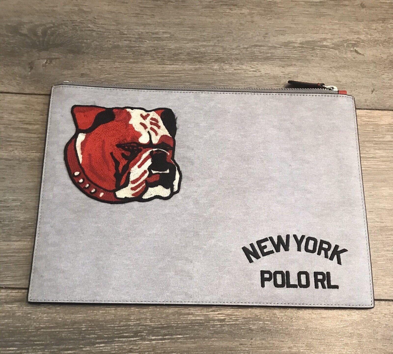 Brand New Polo Ralph Lauren Bulldog Logo Pouch